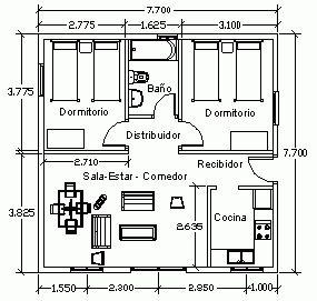 Plano de Planta de mobiliario. #Esmadeco.