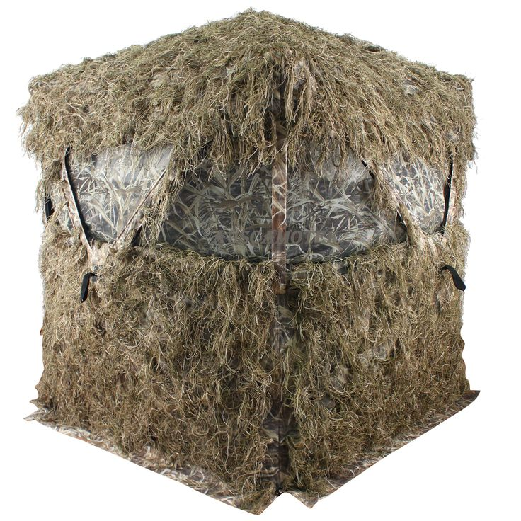 Auscamotek scouter ghillie ground blind for 3 person deer