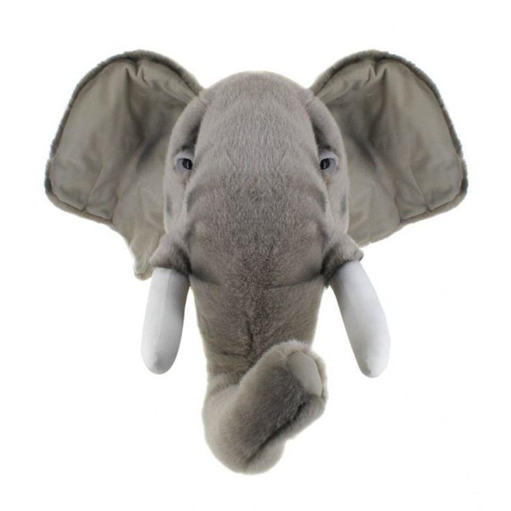 Trophée peluche - Eléphant - Wild & Soft
