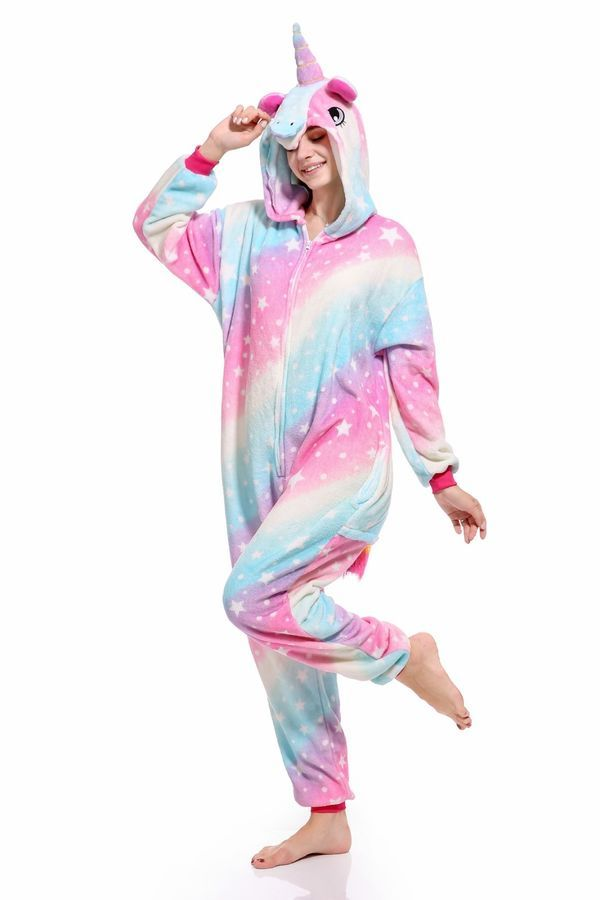 NewPlush Unisex Unicorn Costumes Pyjamas Adult Women Men Animal Cosplay Onesie