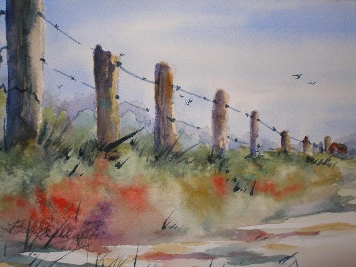 Watercolor Landscape by Barbara Delligatti