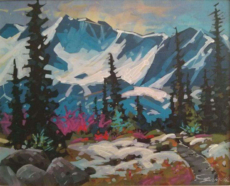 Strathcona Hike Acrylic 12x16