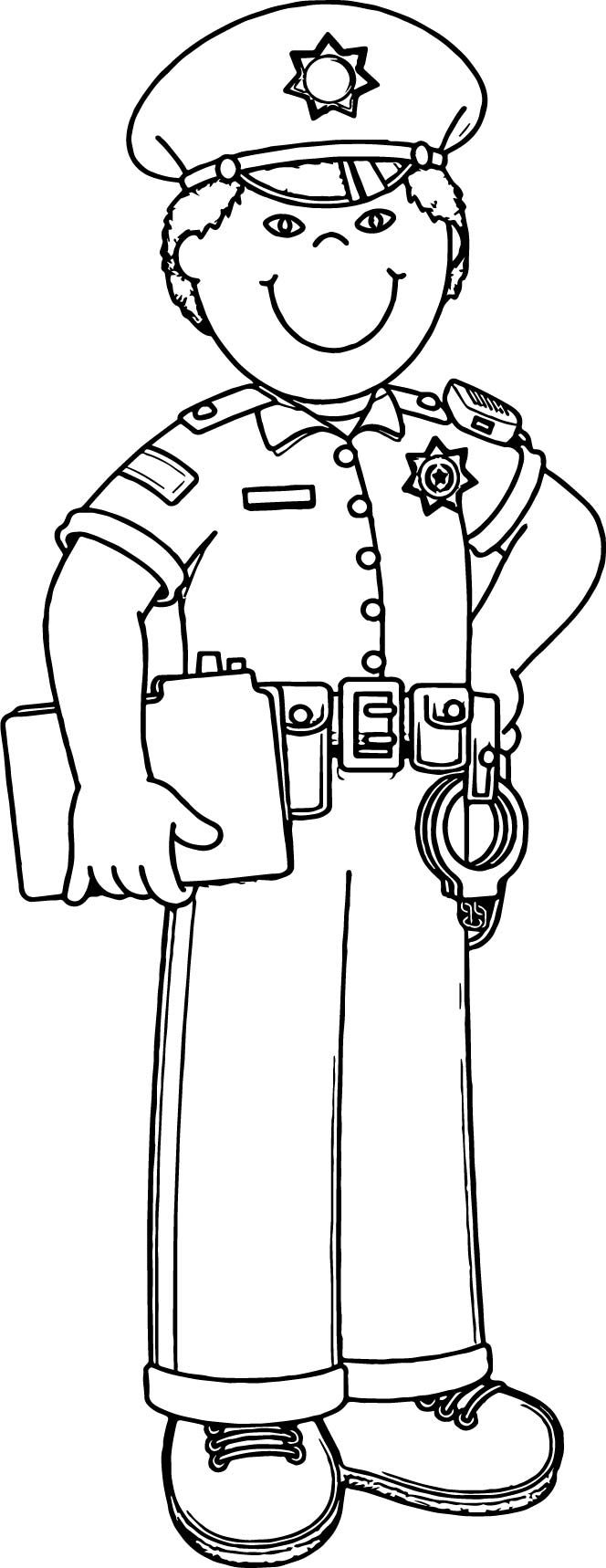 policeman coloring pages - photo#20
