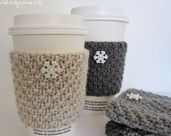 Knitting Pattern For Mug Holder : coffee cozy Knitting & Crochet Pinterest