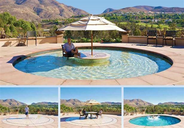 Hidden water pools!! They go from patios to pools from 1-6 feet deep!