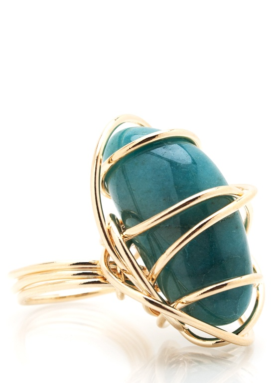 Wire Wrapped Stone Ring   Be Greedy: Accessories   Pinterest   Wire ...