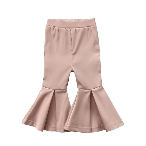 3Colors Kids Girl Baby Solid Flare Pants Trousers Bell Bottom Leggings 2-7Years