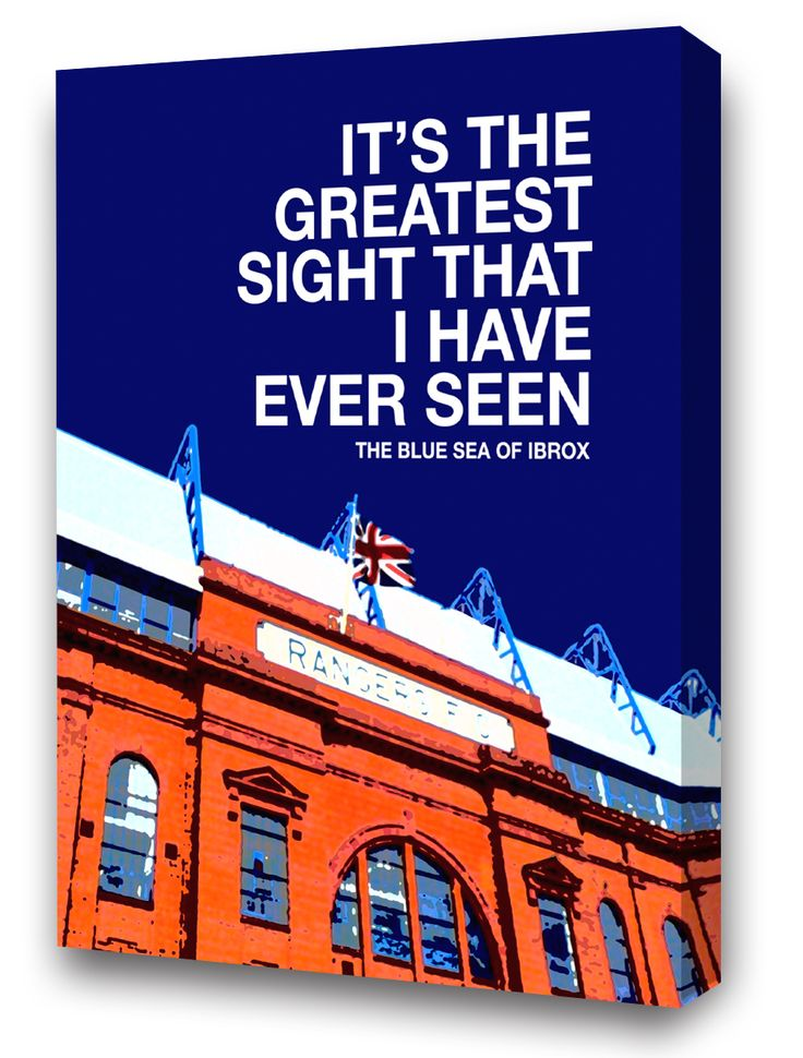 "Ibrox Stadium and The Blue Sea of IbroxIt Is Old But It Is Beautiful...Two Canvas Sizes available:20"" x 16"" or 30"" x 20""• Next working day dispatch. • Quality ca..."