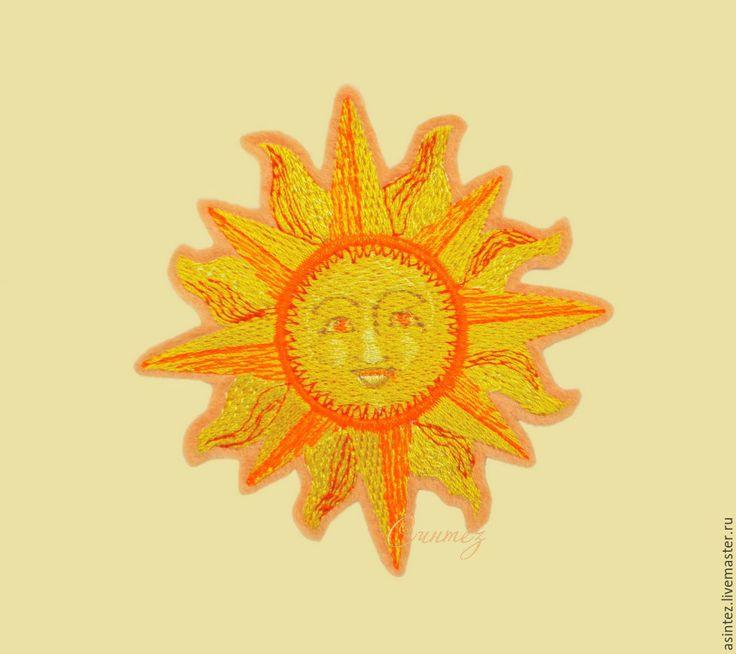 Купить вышивка аппликация нашивка Древнерусское солнце Ярило термоаппликация - Аппликация, термоаппликация, вышивка, нашивка