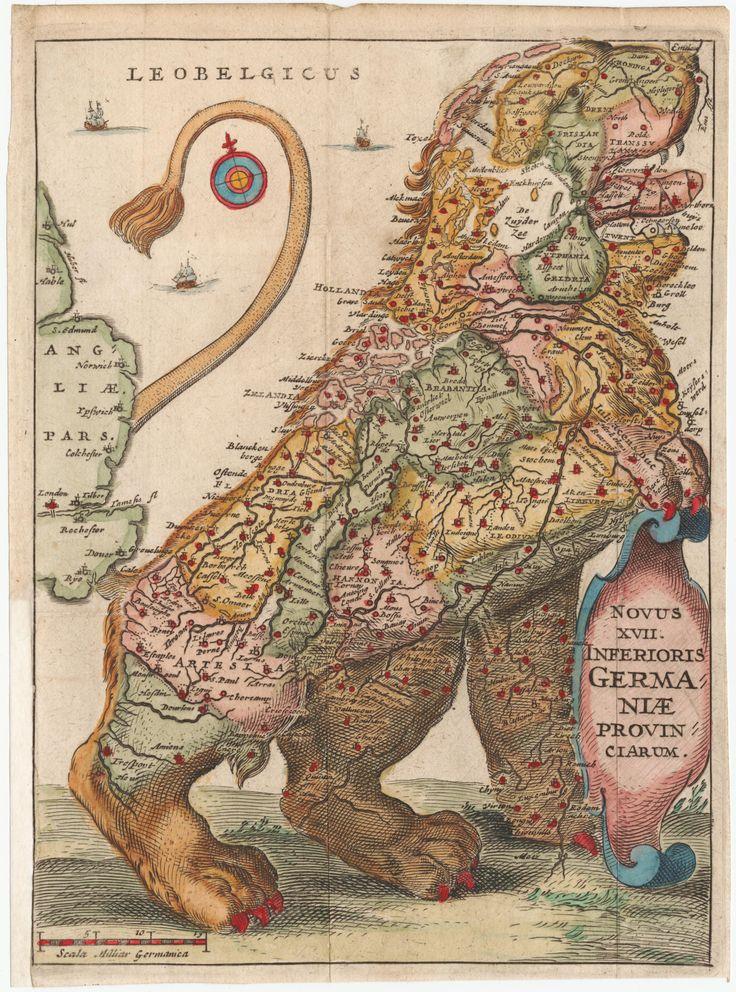 The Leo Belgicus map, 1648
