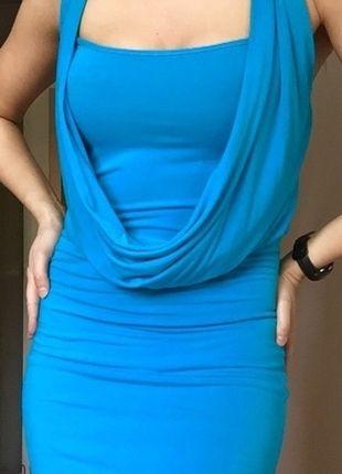 Kup mój przedmiot na #vintedpl http://www.vinted.pl/damska-odziez/krotkie-sukienki/9650057-blekitna-sukienka-tunika-34-36-38-elastyczna