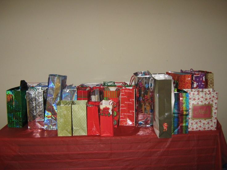 Everyone attending received a gift bag