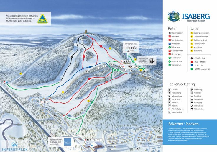 Isaberg Piste Map (High resolution / .JPEG) #isaberg #skiing #sweden