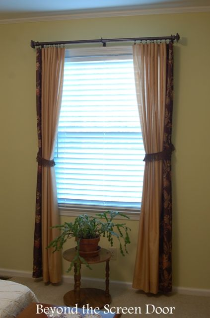 Floral Accent Panel Paired With Solid Curtains 1 Of 5 New