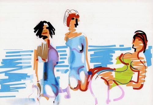 banhistas, Nadir Afonso