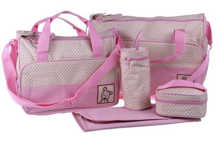 Multifunctional Baby Diaper Handbag Set 5 Piece - Pink | Buy Online in South Africa | takealot.com