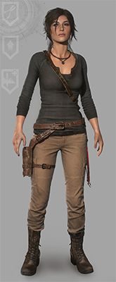 Rise of the Tomb Raider Lara Croft outfit - Gray Henley