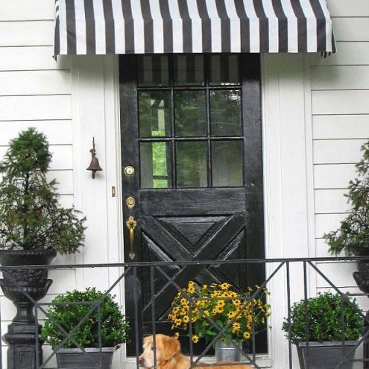 White House Front Porch Curb Appeal