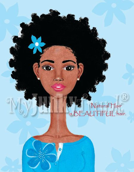 "African American Natural Hair Art Print Black Hairstyle Afro Art- ""Beautiful""--Natural hair is BEAUTIFUL hair!-- Copyright 2012. MyJunkyTrunk®, LLC. All Rights Reserved. www.myjunkytrunk.etsy.com"