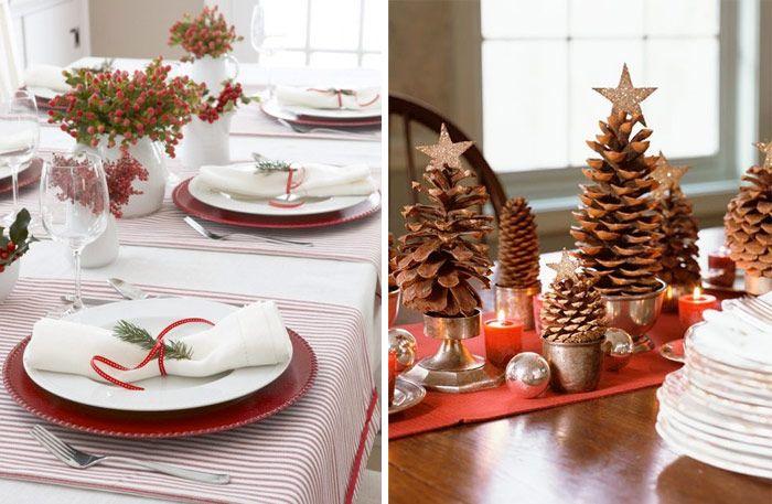 13 enkla, men effektfulla, bordsdekorationer till jul - Sköna hem.  13 simple, but eye-catching, table decorations for Christmas