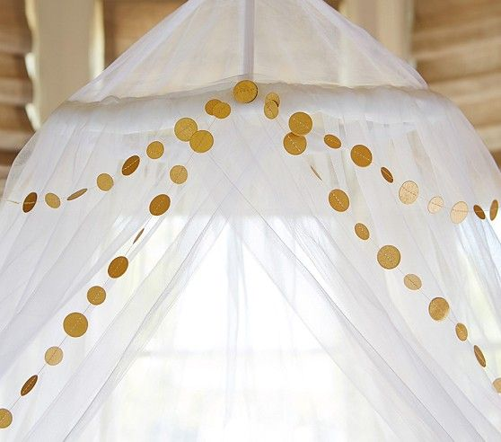 Gold dot garland inspired by gold pinterest pottery for Gold dot garland