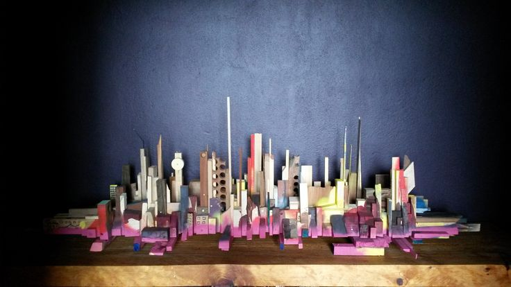 In perspective – city scape sculpture #sculpture #designstudio #frankbohmstudio