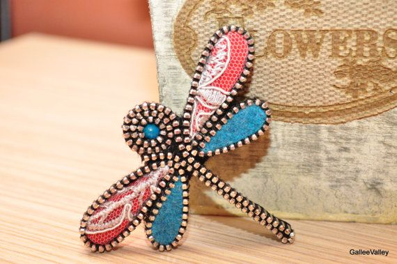 Hey, I found this really awesome Etsy listing at https://www.etsy.com/listing/227516931/zipper-dragonfly-brooch