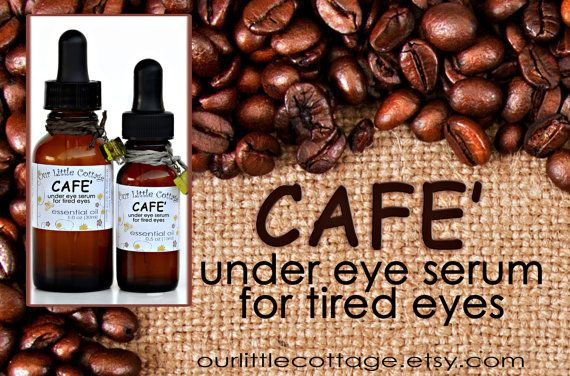 Cafe' Under Eye Serum Caffeine Eye Serum Dark by OurLittleCottage