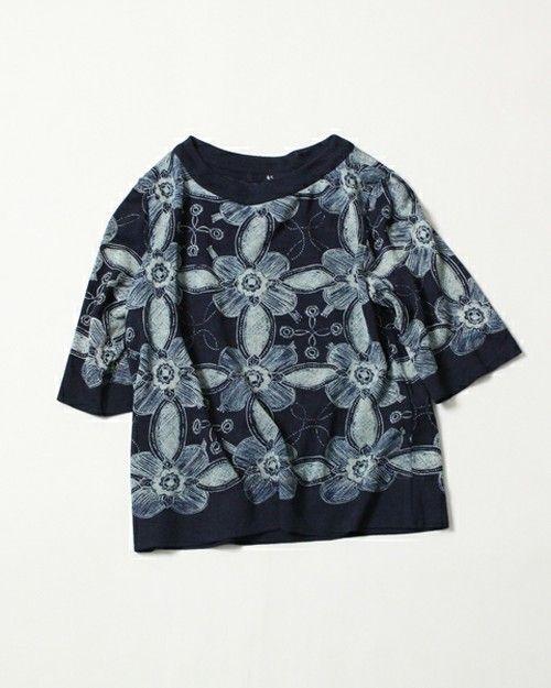 45R Lady's(レディース)のインディゴ天竺ギマアート更紗Tシャツ(Tシャツ/カットソー) その他1
