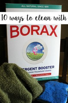 Awesome DIY Cleaning Uses for Borax! Save money and make your own cleaning supplies!