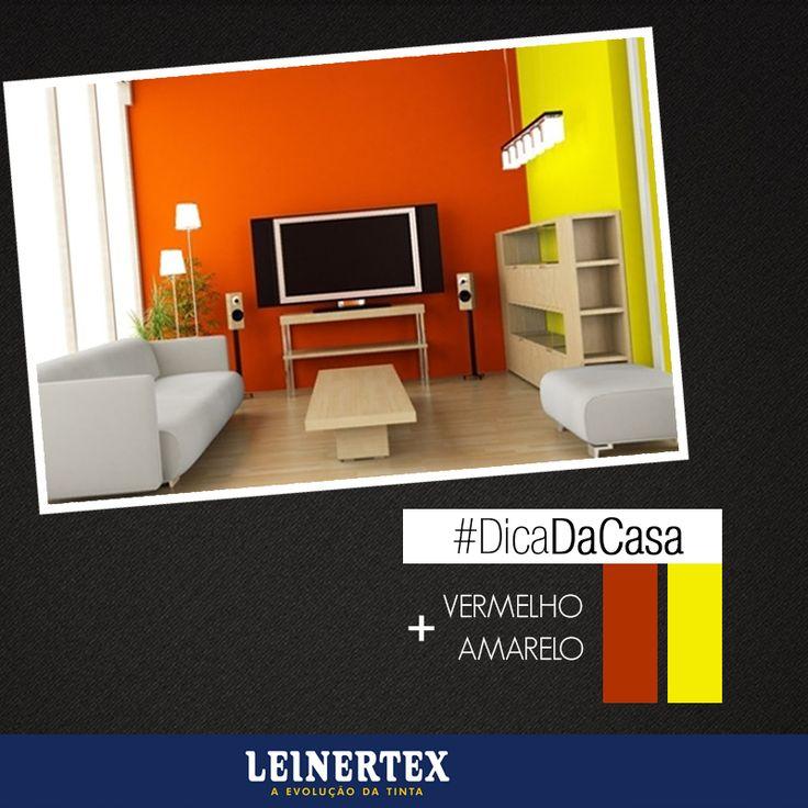 Cansou do mesmo no seu apartamento? Experimente as cores vermelho e amarelo em seu ambiente. #DicaLeinertex