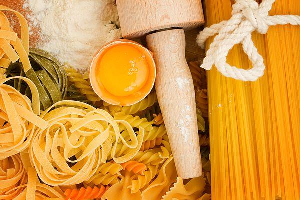 Making homemade pasta with a wooden roller by Anastasy Yarmolovich #AnastasyYarmolovichFineArtPhotography  #ArtForHome #Food