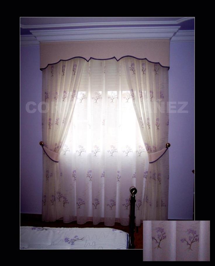 Mejores 47 im genes de cortinas en pinterest visillos - Cortinas con visillo ...