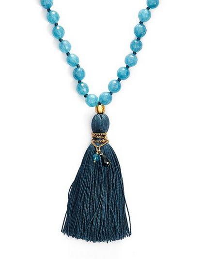 long beaded tassel necklace / satya jewelry