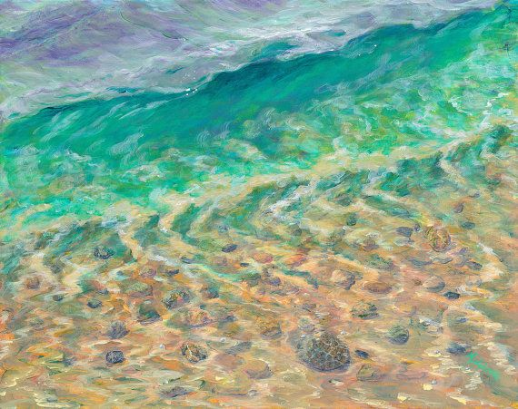 Petoskey stones in the lake.  Beautiful painting!Lake Michigan, Beautiful Painting, Art Adorable, Petoskey Mi, Sewing Art, Lakes Michigan, Glorious Petoskey, Petoskey Stones Painting, Michigan Glorious