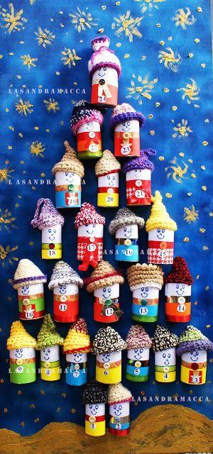 Natale si avvicina e cosa c'è di più creativo di costruire un bel calendario dell'avvento in attesa del suo arrivo? Vi proporrò una serie di calendari dell'avvento da poter realizzare con i vostri bambini.