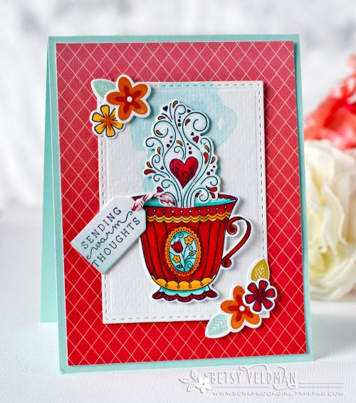 Sending Warm Thoughts Card by Betsy Veldman for Papertrey Ink (August 2016)