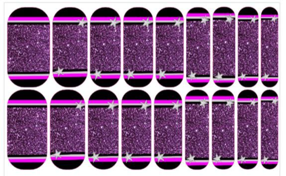 Nail wrap design Rock Star by Stacy Bogard