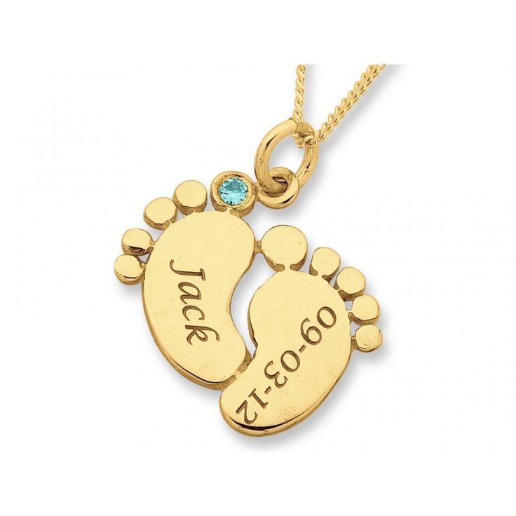 20 best unique gifts images on pinterest original gifts unique surprise new mum with this stunning personalised baby feet necklace features yellow gold blue or pink stone engraving of up to 2 namesdates negle Image collections