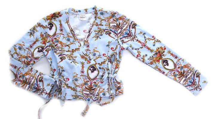 Jottum blue Rembrandt cross over tricot vest 116 6 Y