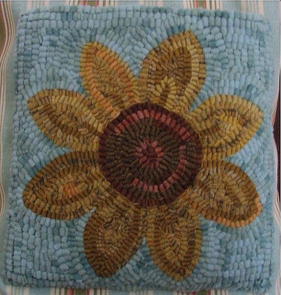 Rug Hooking Sunflower Beginner Kit By Pioneerrughooking On Etsy, $45.00