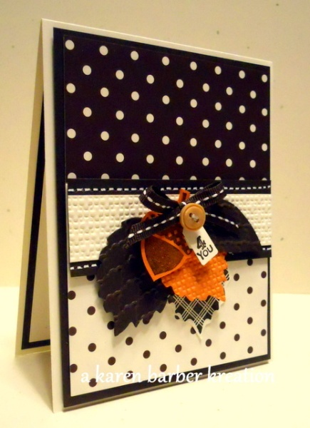 POLKA DOT AUTUMN Karen Barber This is Early Espresso, not black card stock.