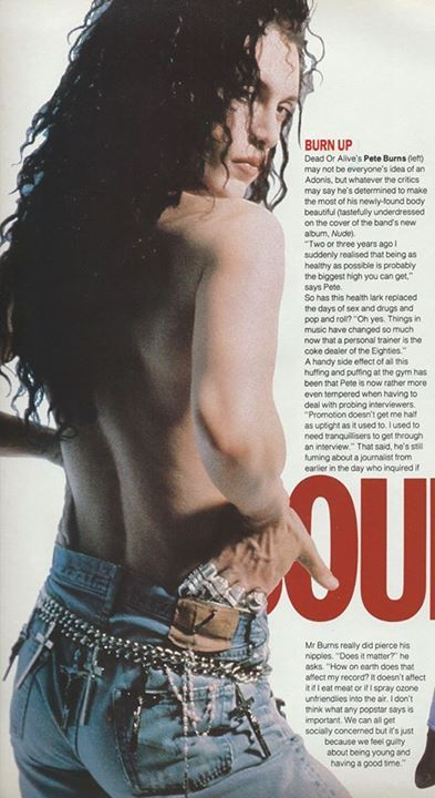 An honest interview with Pete Burns in 1989 for a magazine