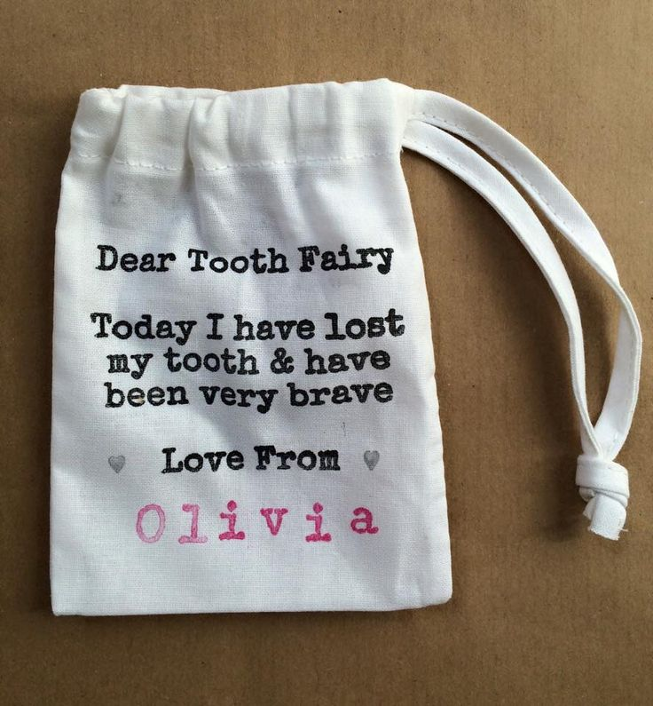 Personalized tooth fairy bags