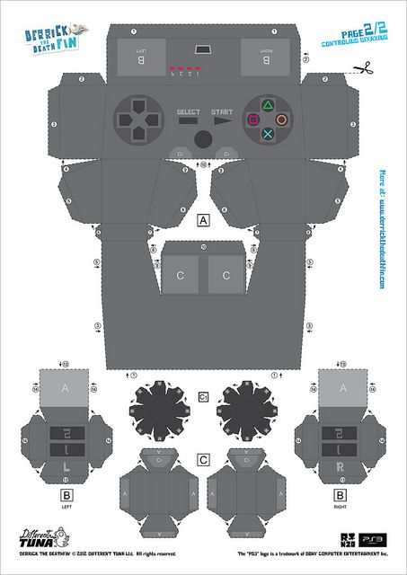 controller paper template by PlayStation Europe