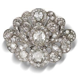 A diamond brooch, circa 1820
