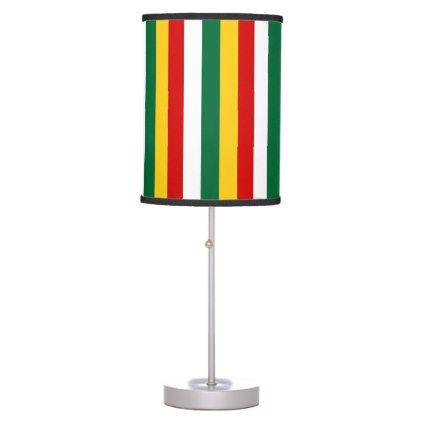Suriname flag stripes lines pattern table lamp - pattern sample design template diy cyo customize