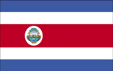 Country Flags: Costa Rica Flag