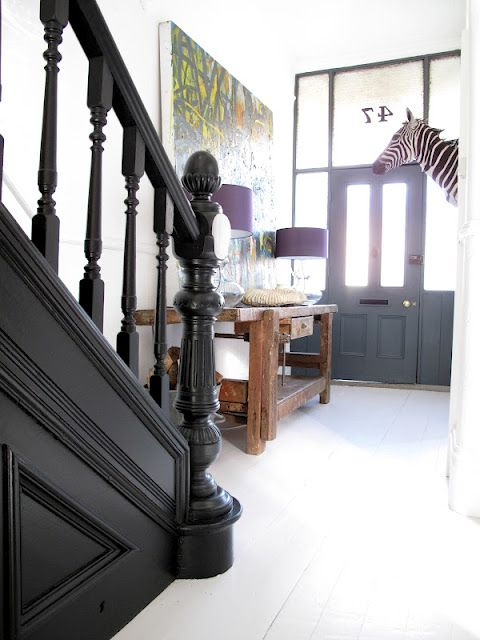 Matt black staircase & woodwork