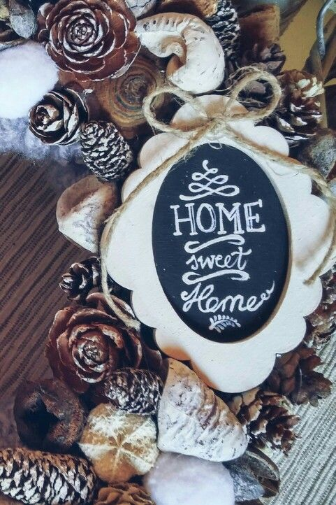 Otthon édes otthon akrillal festett kép